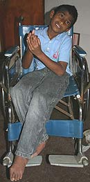 Chauranga in wheelchair